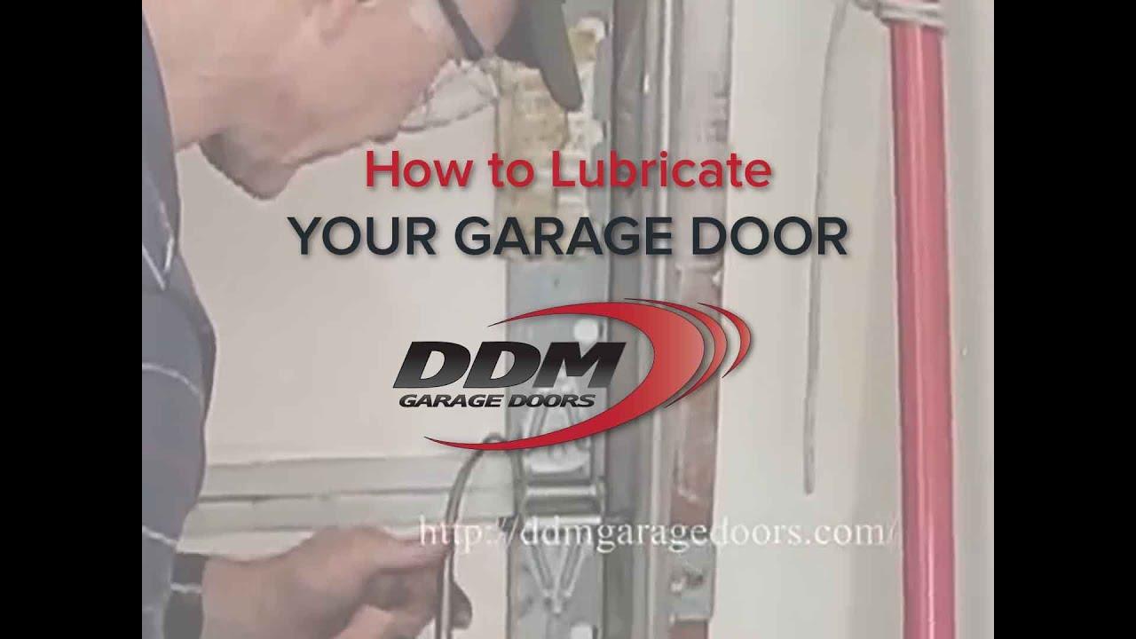 How To Lubricate Your Garage Door Youtube