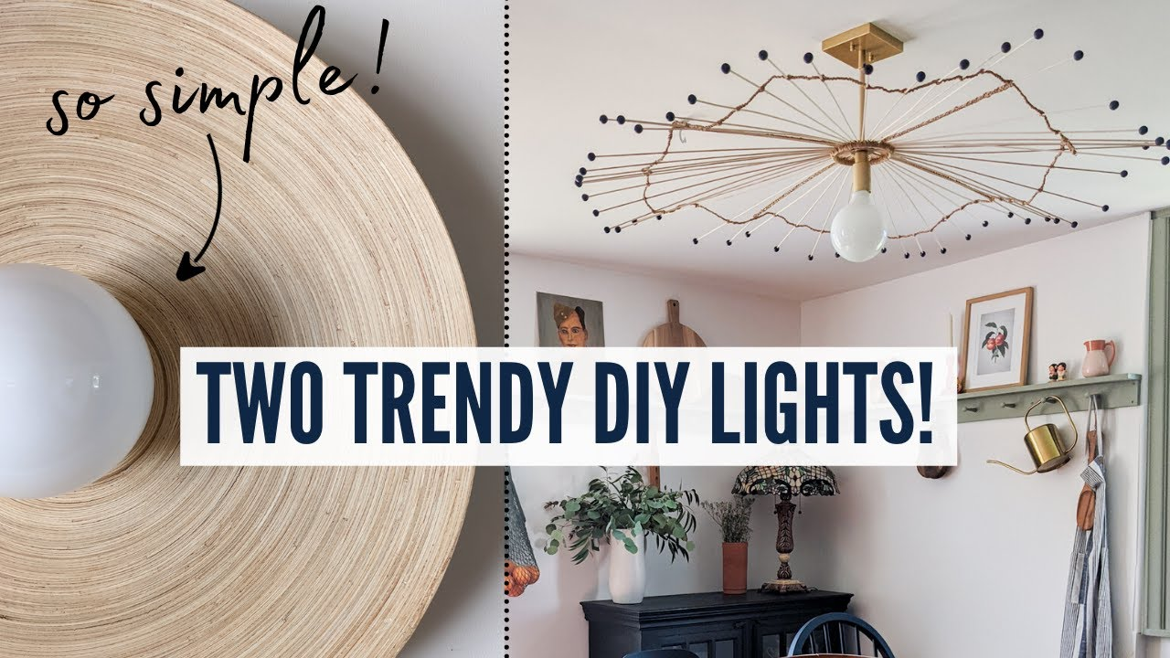 Two *SIMPLE* DIY Light Fixtures For Your Home! | #SOtrendy | DIY Danie