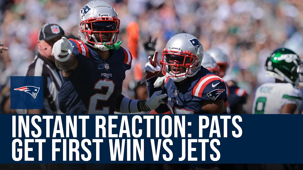 Instant Reaction: Mac Jones, Patriots get first win of the year against the Jets | NBC Sports Boston