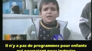 Un Enfant Palestinien parle comme un Lion