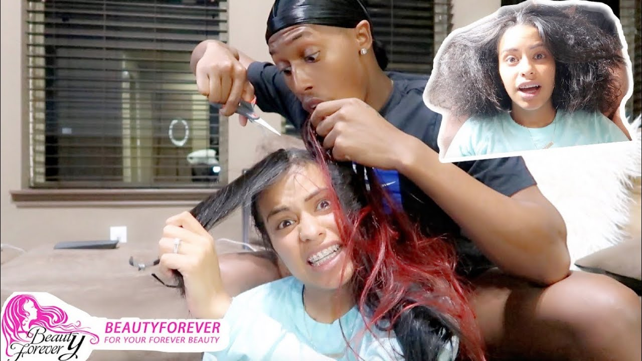 COREY TAKES MY HAIR DOWN **HE CUT MY REAL HAIR** ft Beauty ...