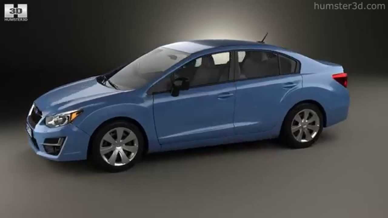 subaru impreza sedan 20153d model  humster3d - youtube