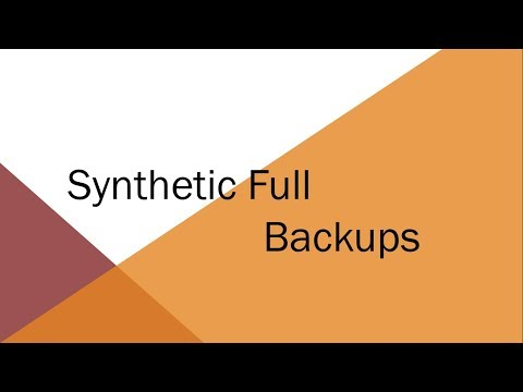 Synthetic Full Backup | Overview