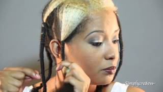 How to Stretch Natural Hair Using African Threading Method.