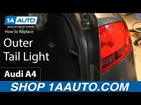 How To Replace Outer Tail Light 05-08 Audi A4