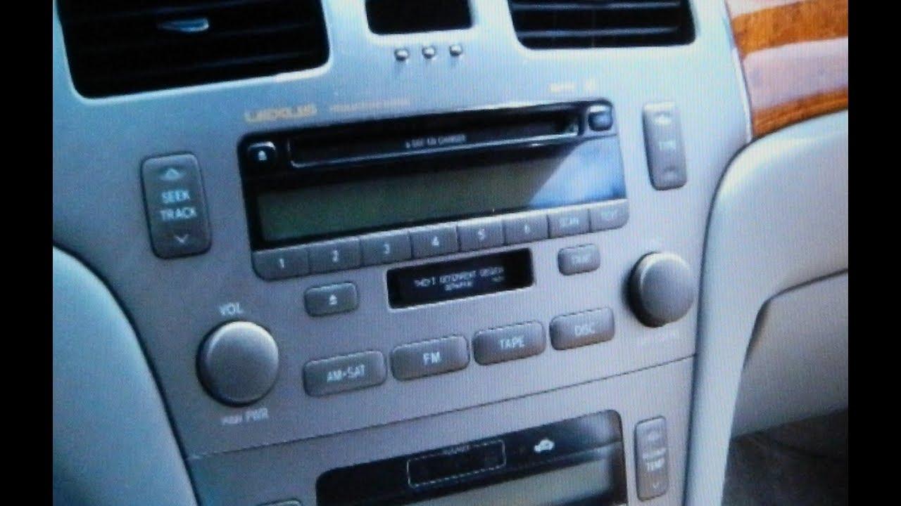 medium resolution of lexus es330 stereo removal