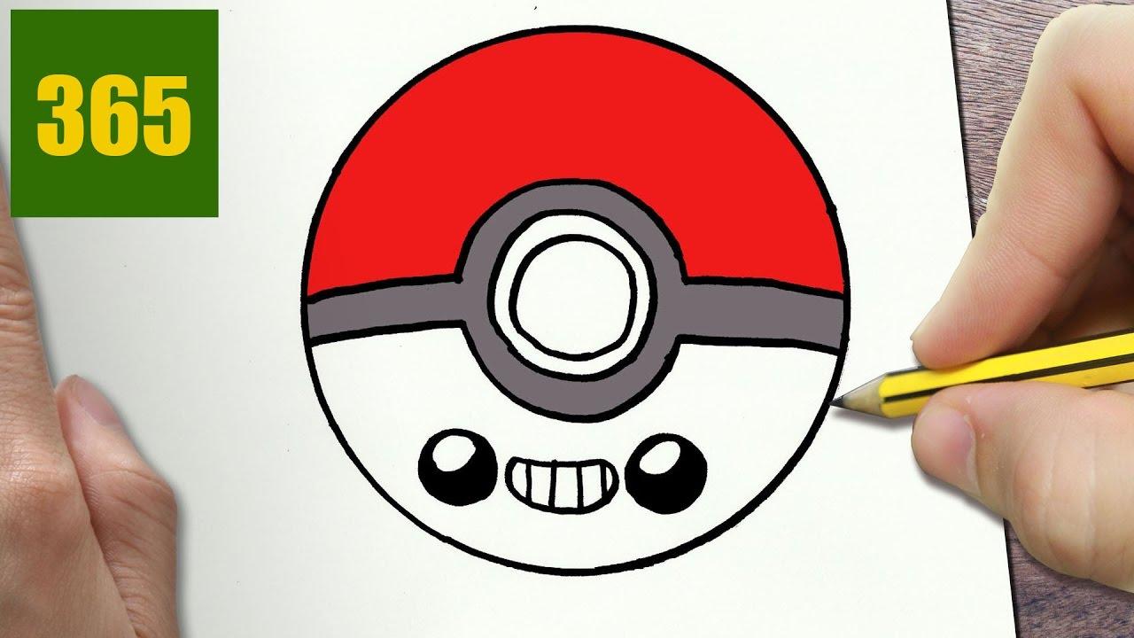 Come Disegnare Pokeball Kawaii Passo Dopo Passo Disegni Kawaii