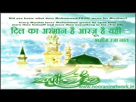 New Naat E Paak - Shamim Raza Faizi नात  - दिल का अरमान है आरज़ू है यही