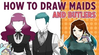 How to draw Anime Maid and Butler