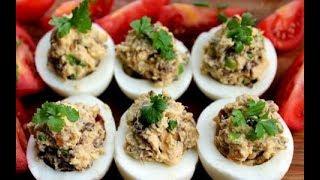 Вкусные фаршированные яйца. Оригинальные закуски на праздничный стол
