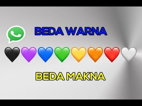 Terungkap! Ini Dia Makna Emoji Hati dengan Warna Yang Berbeda di Whatsapp