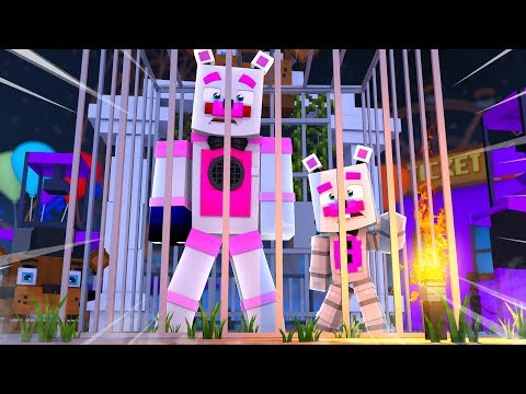 Trapped In FNAF World Theme Park ?! | Minecraft FNAF Roleplay