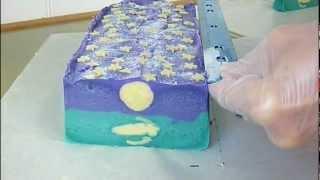 Cutting Heavenly Moon Handmade Soap
