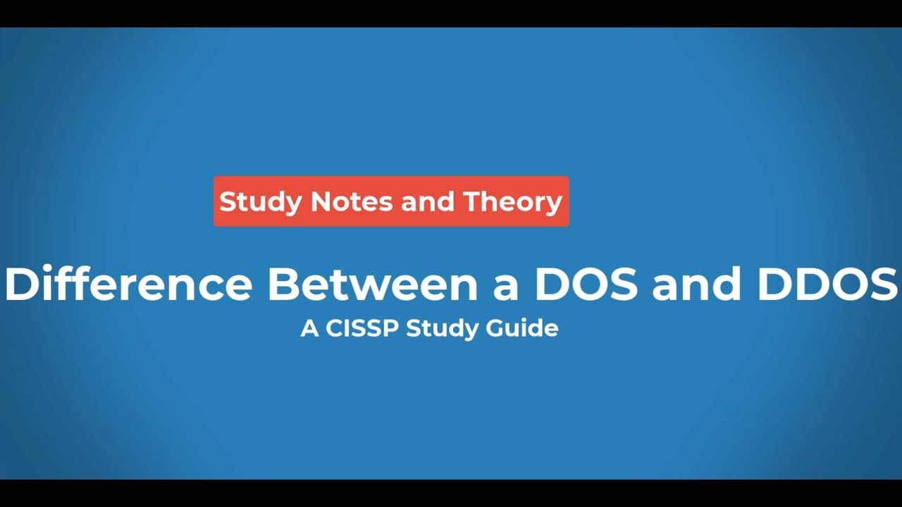 difference between a dos and ddos youtube