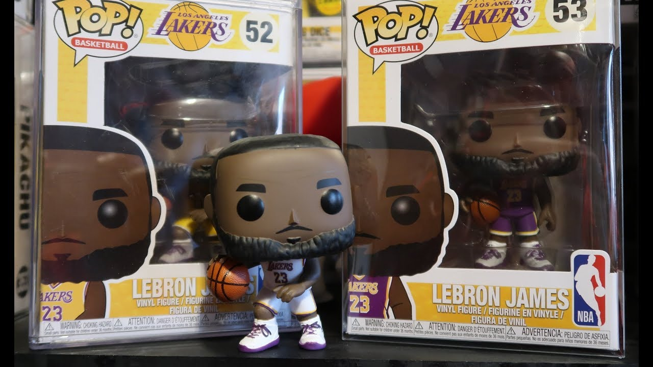 760de8ae1eca LEBRON JAMES FUNKO POP LAKERS HOME JERSEY EXCLUSIVE UNBOXING REVIEW  NBA   LEBRON Giveaway