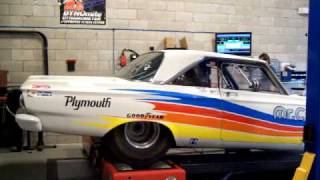 SV ENGINEERING 1965 Satellite race car chassis dyno test