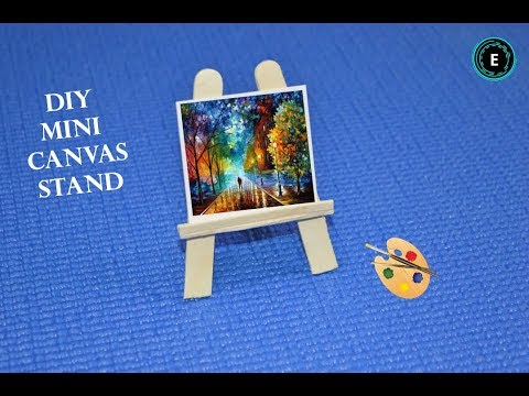 Diy Mini Canvas Stand Easy Diy Miniature Easel How To