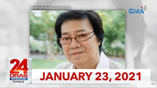 24 Oras Weekend Express: January 23, 2021 [HD]
