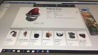 Buying Santa Claus ROBUX!!! (Roblox)