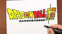 COMO Desenhar Logo DRAGON BALL SUPER ⚡ | COLORINDO E DESENHANDO LOGOS FAMOSAS