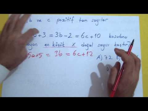 Matematik Soru çözümü Şenol Hoca Matematik