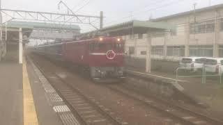 急行津軽 東能代駅発車※警笛注意
