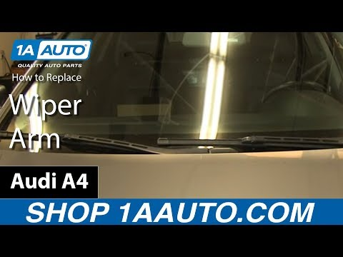 How To Remove Install Wiper Arm 2003-08 Audi A4