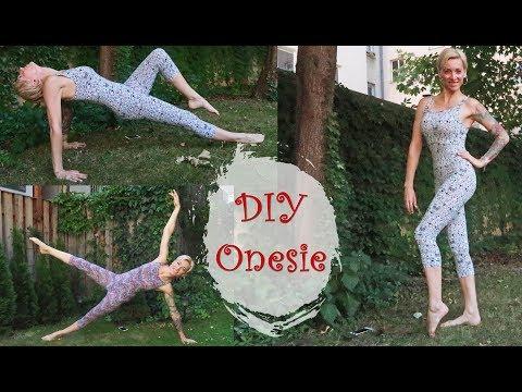 DIY Onesie Yoga or Dance Outfit