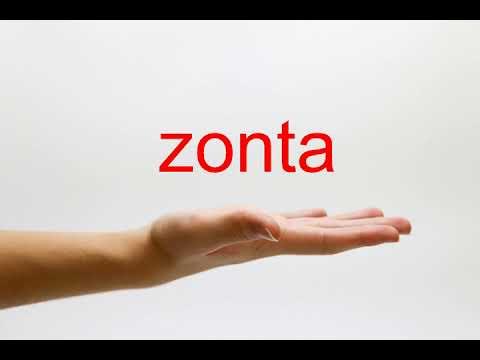 How to Pronounce zonta - American English