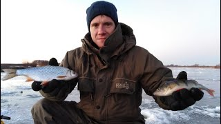 Налим Щука плотва окунь Зимняя рыбалка на Уаз Буханке