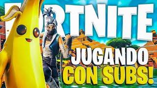 JUGANDO A FORTNITE EN DIRECTO CON SUBS!!!EN DIRECTO!!