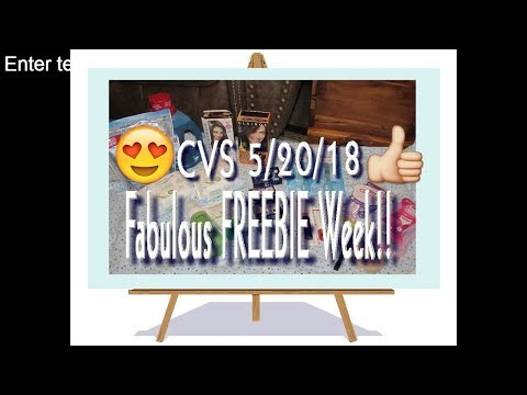 CVS Coupon Haul 5/20/18 Fabulous FREEBIE Week!!