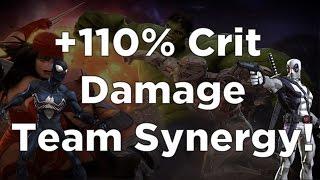 +110% Crit Damage Team Synergy! - Marvel Contest of Champions