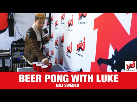[NRJ FUN TIMES]  Beer pong with Luke Christopher & Sandy  - NRJ SWEDEN