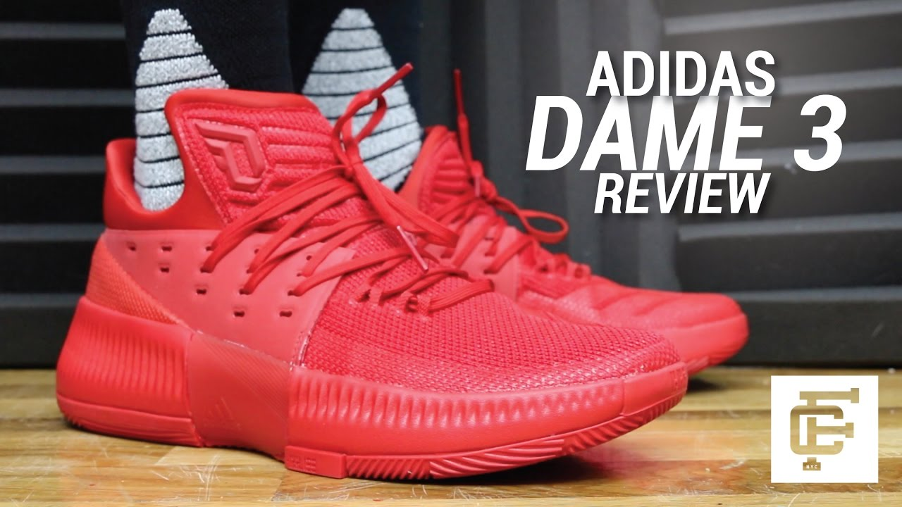 promo code a8804 70b6f ADIDAS D LILLARD 3  DAME 3 REVIEW - YouTube