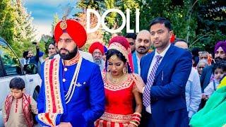 Doli + Ribbon cutting - Manreet weds Sumeet | Punjabi Sikh Wedding Calgary