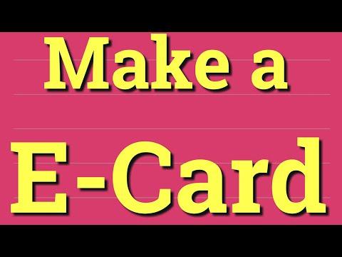 How To Make An E-Card | Create An E-card | Very Easy To Make