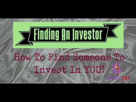 Finding An Investor For Your Career or Label