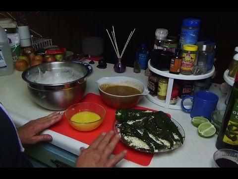 ASMR Cooking For Relaxation With Free Spirit ~ Chile Rellenos