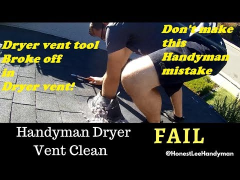 How Not to Clean a Dryer Vent Duct / WATCH THIS BEFORE YOU CLEAN A VENT!!