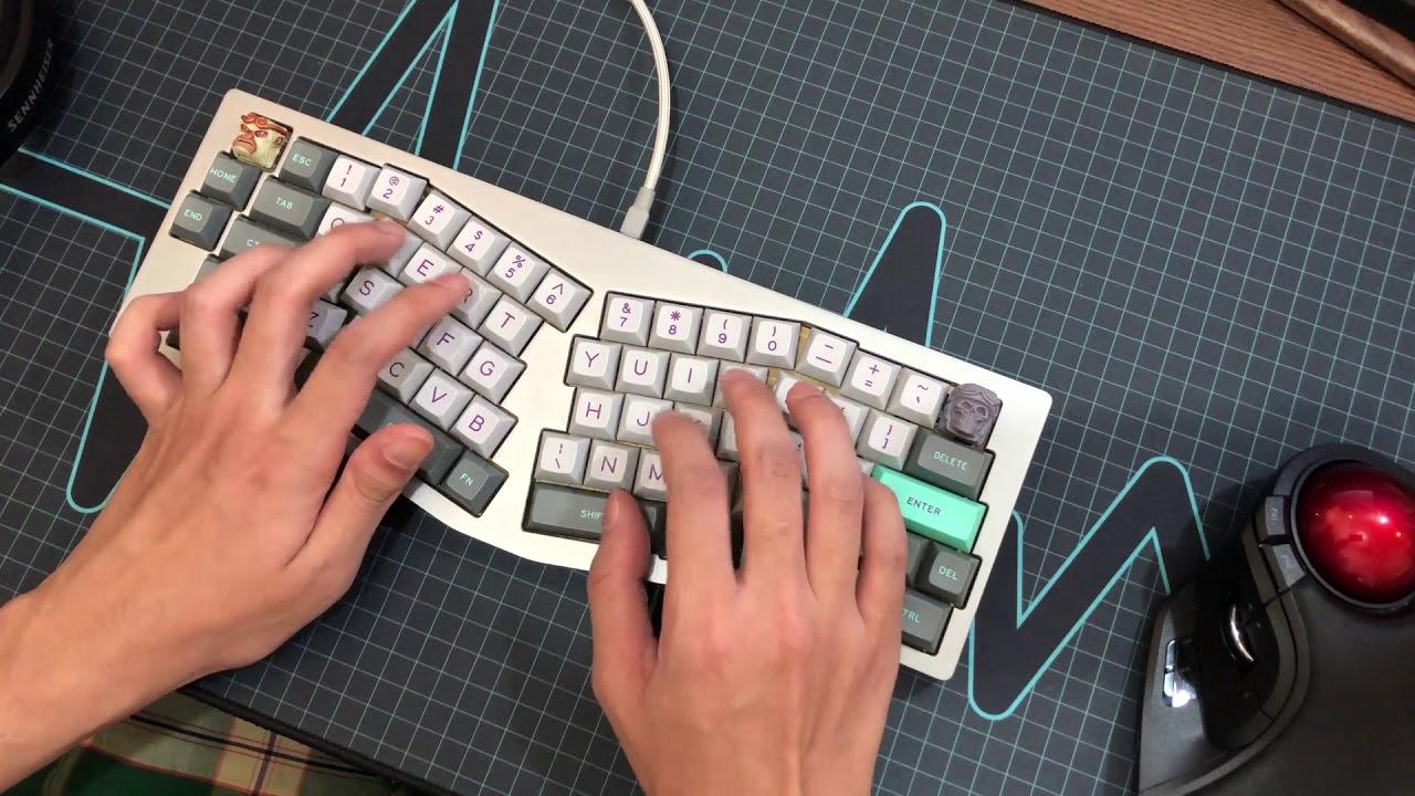 TGR Alice Kailh Burnt Orange Typing/Sound Test