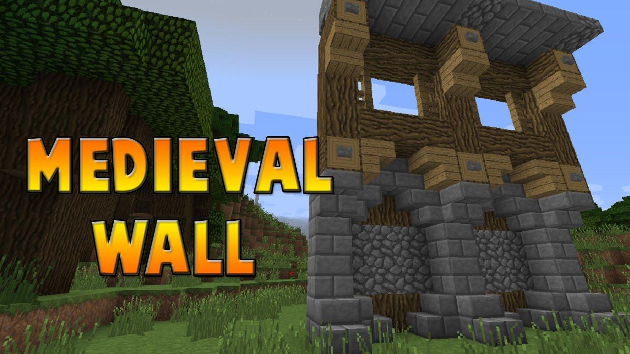 Minecraft : Medieval Wall Design Tutorial 13