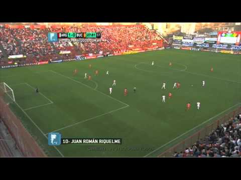 Gol de riquelme argentinos 1  boca unidos 0 fecha 1 b nacional ftbol para todos