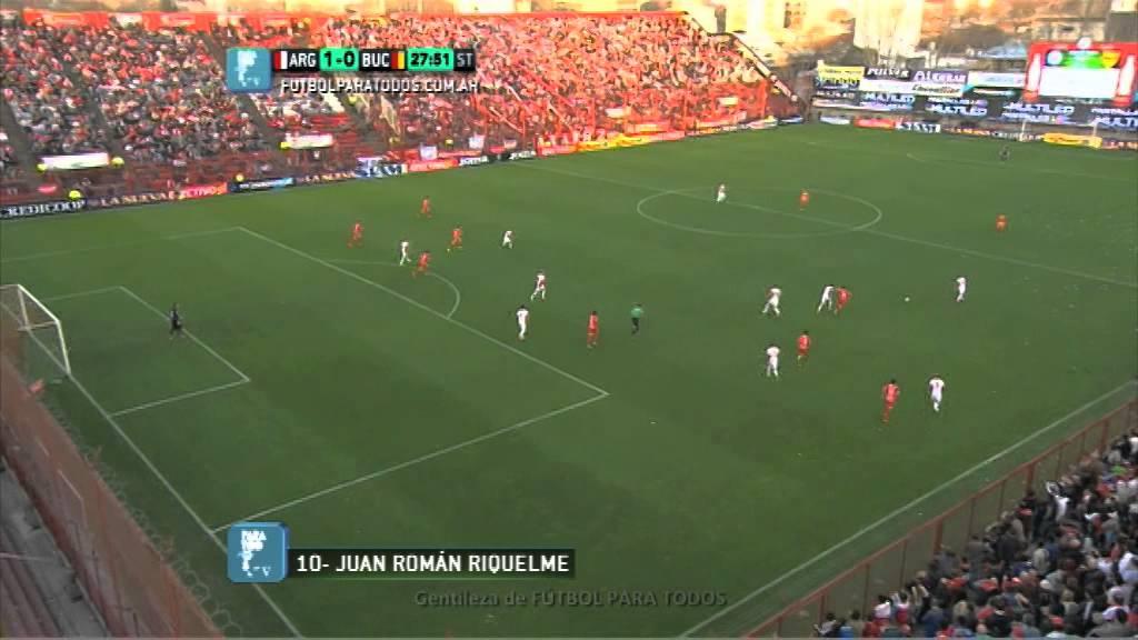 Gol de Riquelme. Argentinos 1 - Boca Unidos 0. Fecha 1. B Nacional. Fútbol Para Todos