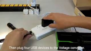 Sokoo voltage converter 220v to 110v step down international travel adapters usb charger review