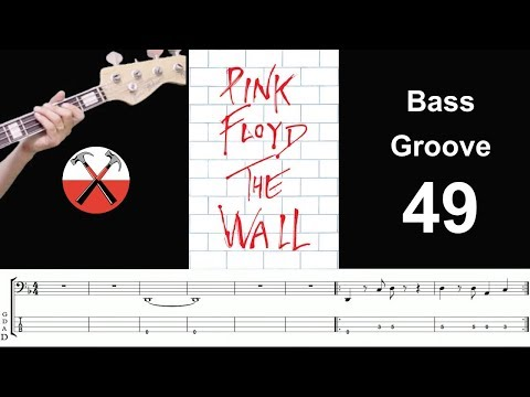 ANOTHER BRICK IN THE WALL (Pink Floyd) Bass Cover Groove w/ TAB & SHEET MUSIC - SCORE