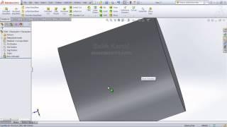 3 - Solidworks 2013 Eğitim- Menü ve toolbarların kullanımı