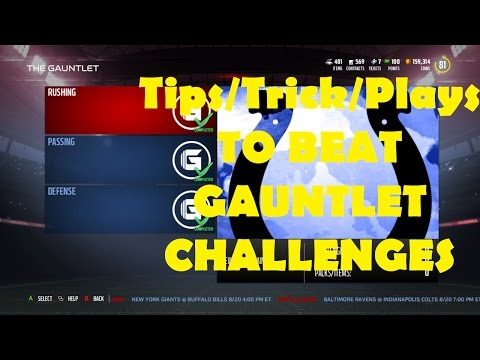 Madden 17 Tips/Tricks Beating Gauntlet Challenges