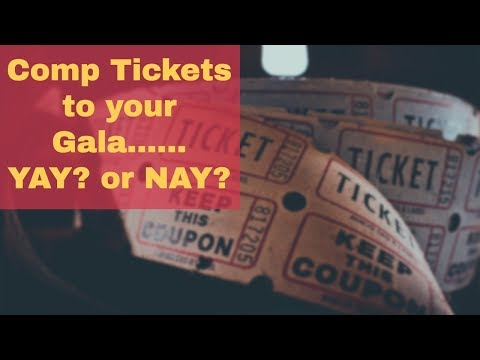 Fundraising Event Ideas | Free Tickets to Charity Gala - Yay or Nay?