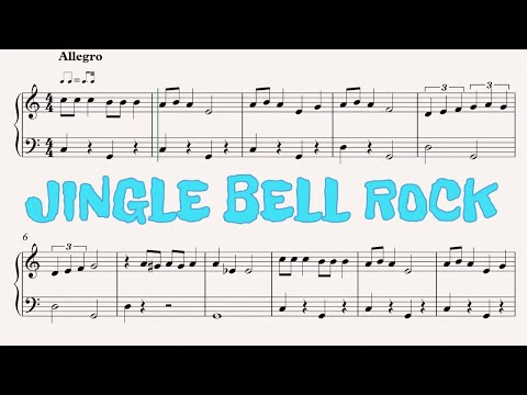 JINGLE BELL ROCK - FREE PIANO SHEET MUSIC